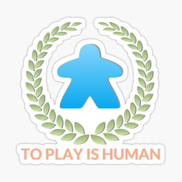 To Play Is Human (Icon TItle) Sticker