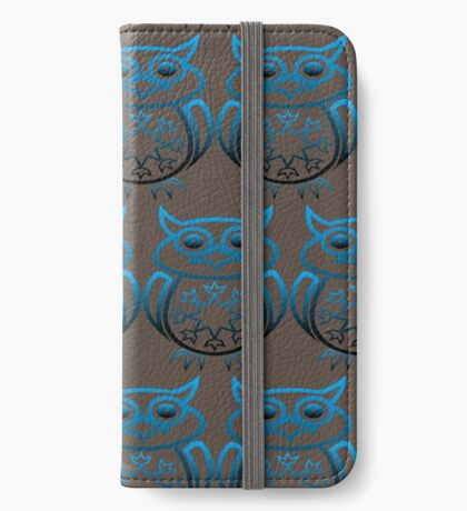 Owl's (Blue) iPhone Wallet