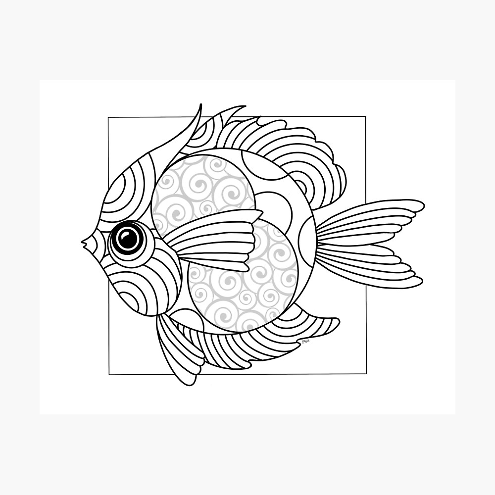 Just Add Colour - Fanciful Fish Photographic Print