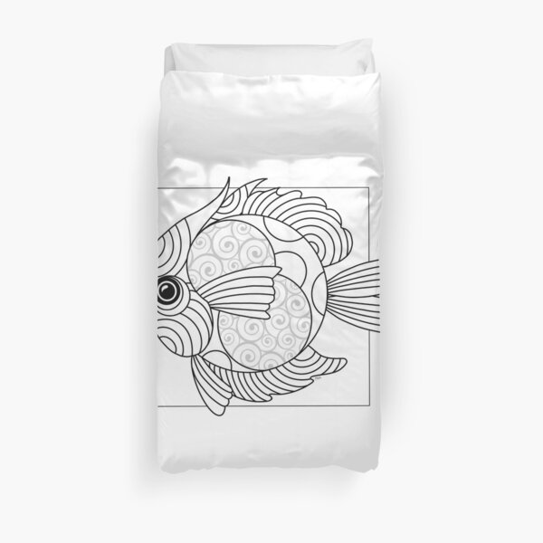 Just Add Colour - Fanciful Fish Duvet Cover