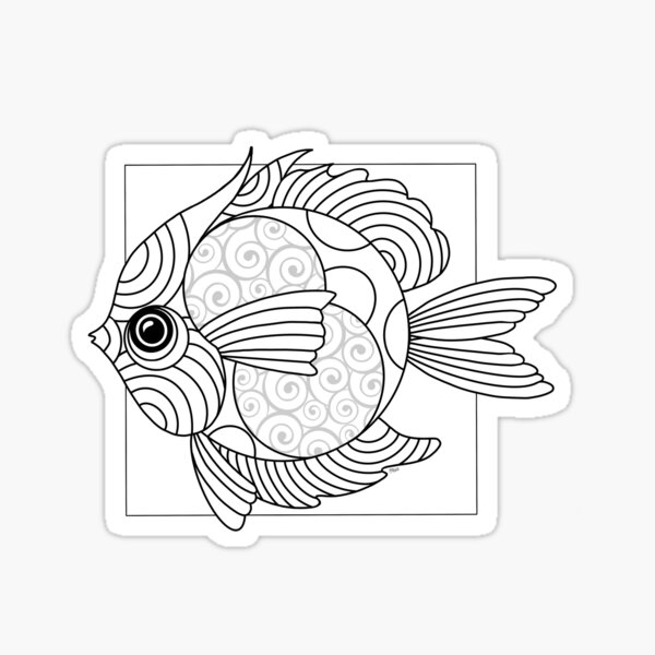 Just Add Colour - Fanciful Fish Sticker