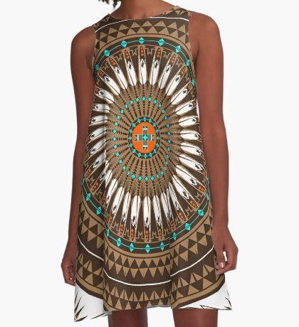 Pow Wow (Wacipi) A-Line Dress