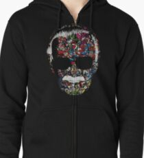 Man of Many Faces Zipped Hoodie