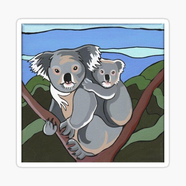 Koala with baby Sticker