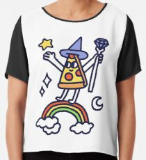 Wizard Pizza Chiffon Top