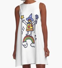 Wizard Pizza A-Line Dress