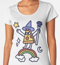 Wizard Pizza Premium Scoop T-Shirt