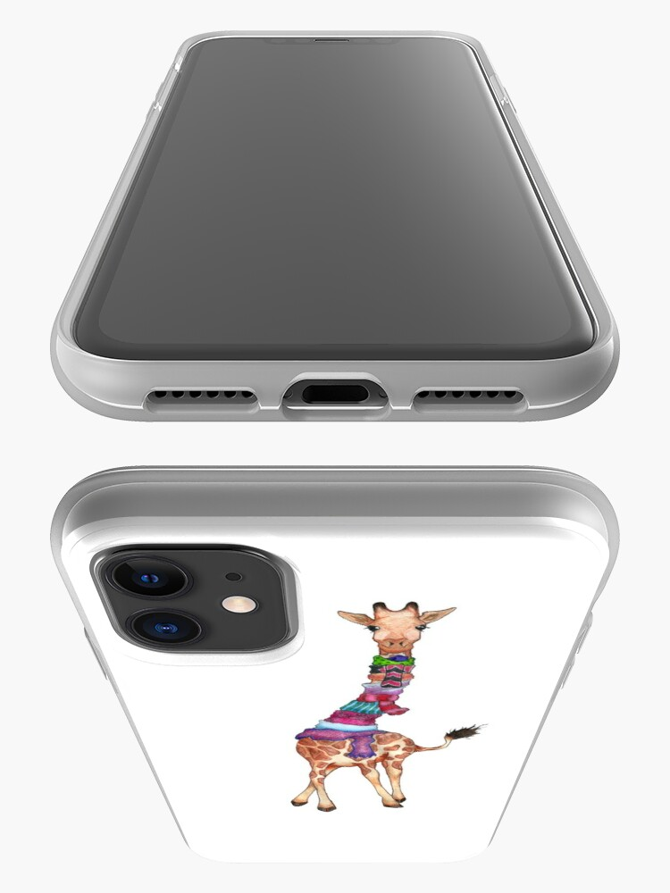 Alternate view of Cold Outside - Cute Giraffe Illustration iPhone Case & Cover