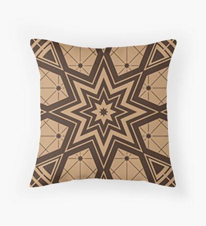 Vintage Native American Gathering Throw Pillow