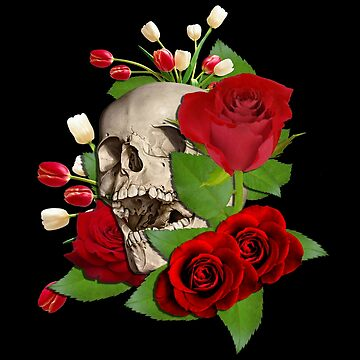 Skull Roses by ratherkool