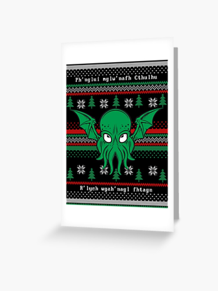Cthulhu Lovecraft Ugly Christmas Sweater Green Soft Baby One Piece