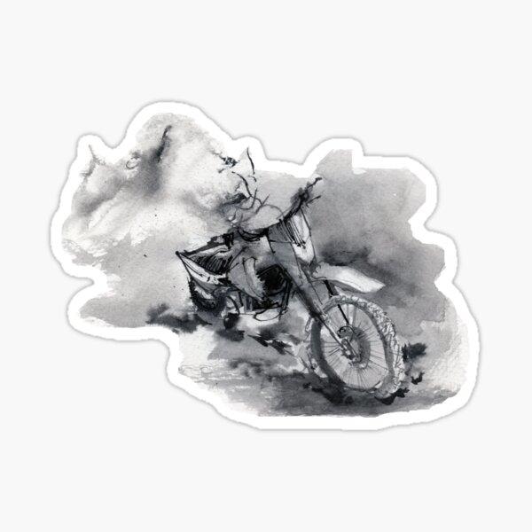 Dirty dirtbike Sticker