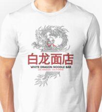 Camiseta ajustada Barra de fideos White Dragon - ½ Variante de mandarina negra cortada