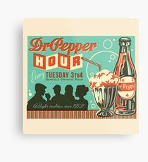 Dr. Pepper Vintage Ad #2 Metal Print