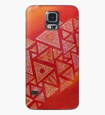 acción geométrica triangular roja Funda/vinilo para Samsung Galaxy