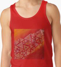 acción geométrica triangular roja Camiseta de tirantes