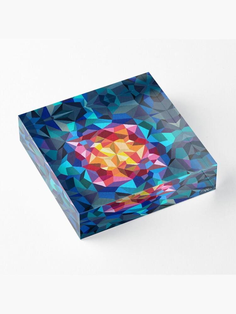 Vista alternativa de Bloque acrílico Pintura geométrica multicolor