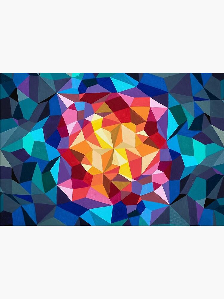Pintura geométrica multicolor de artetbe
