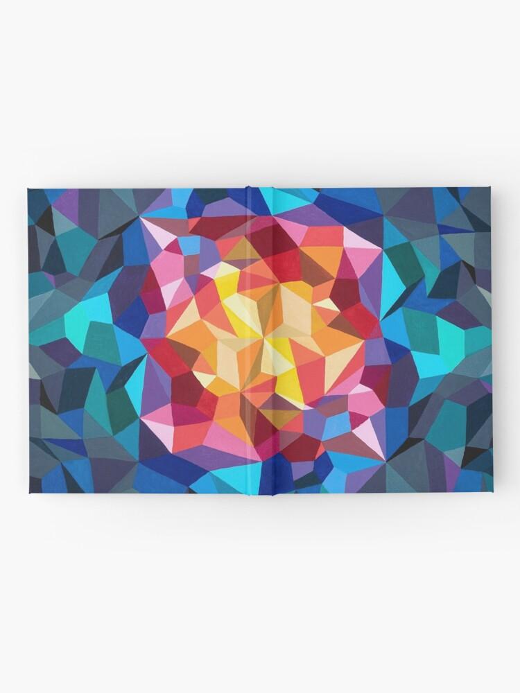 Vista alternativa de Cuaderno de tapa dura Pintura geométrica multicolor