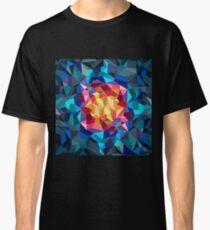 Pintura geométrica multicolor Camiseta clásica