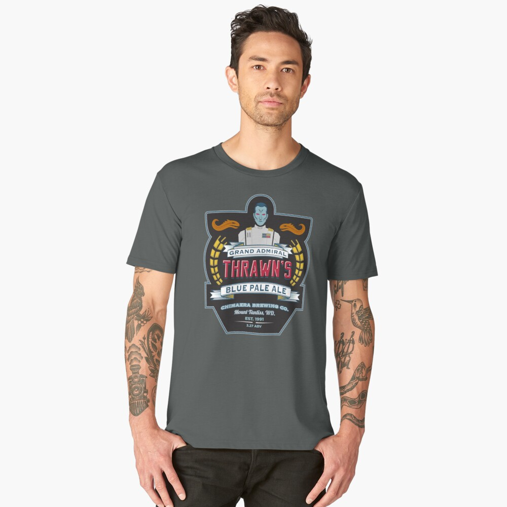 Grand Admiral Thrawn's Blue Pale Ale Men's Premium T-Shirt Front