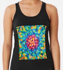 pintura geométrica colorida Camiseta con espalda nadadora