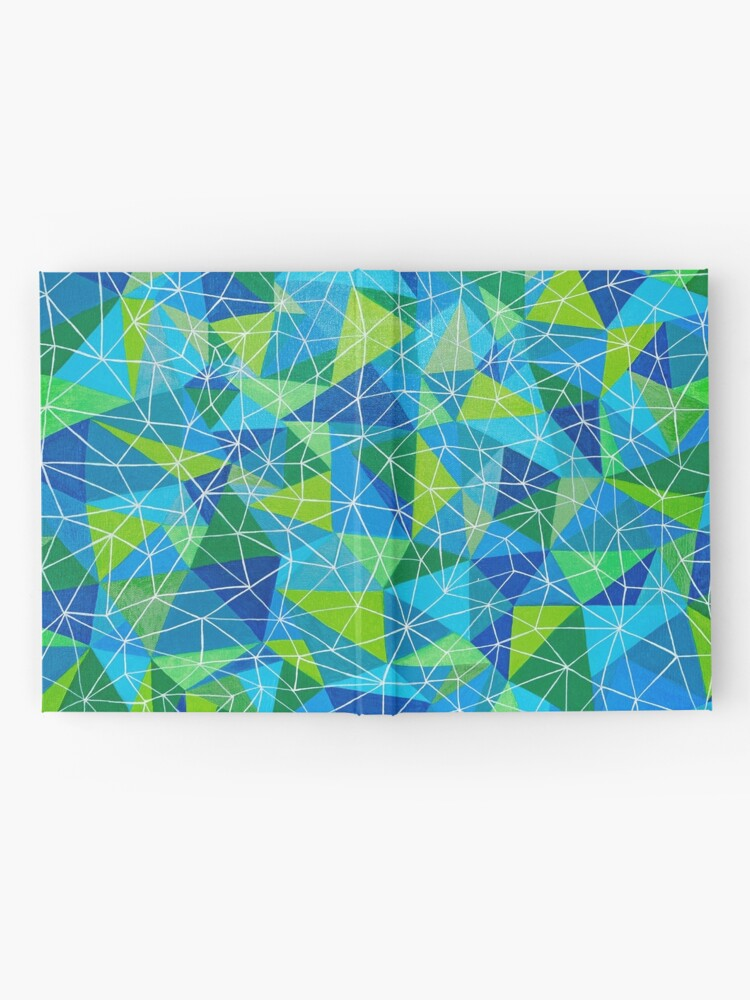 Vista alternativa de Cuaderno de tapa dura conexión geométrica poli arte
