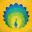 «Colorido pavo real solar» de artetbe