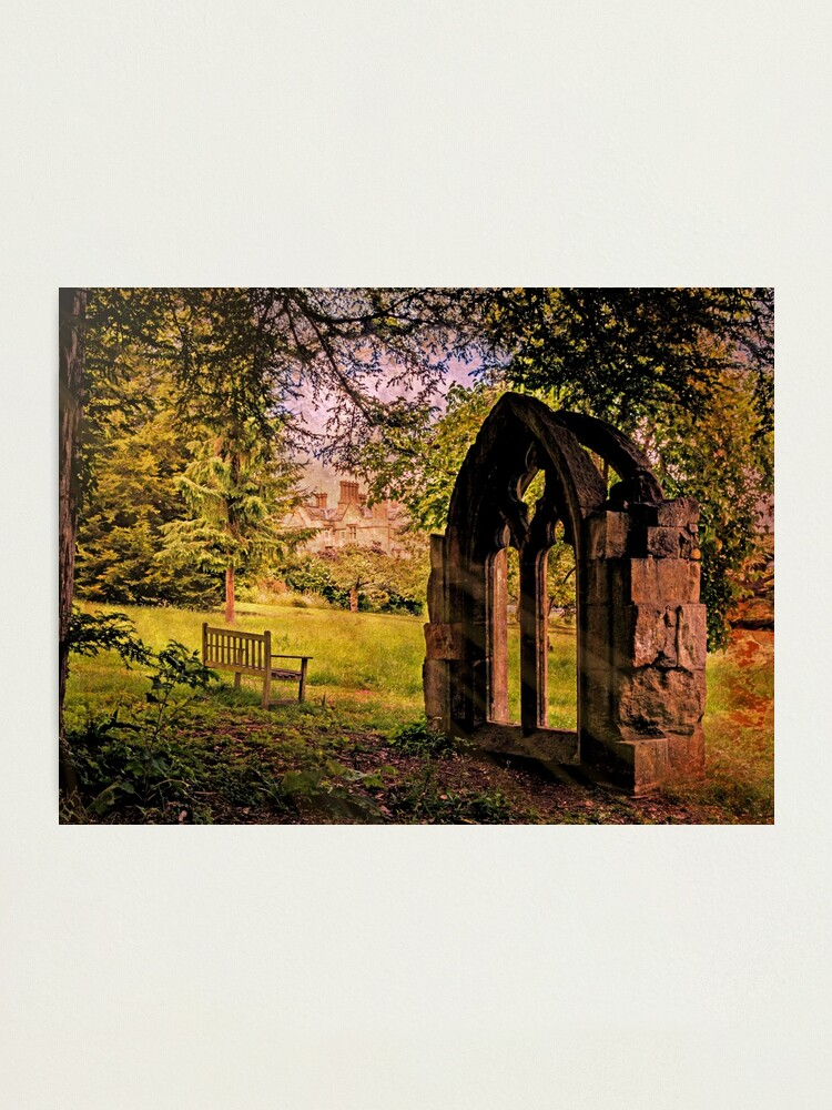Alternate view of Manor house landscape. Photographic Print