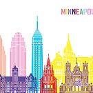 Minneapolis V2 Skyline-Pop von paulrommer