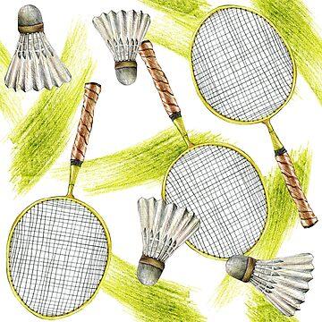 pattern. badminton by lisenok