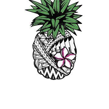 Tribal Pineapple Guam by kimwellrena