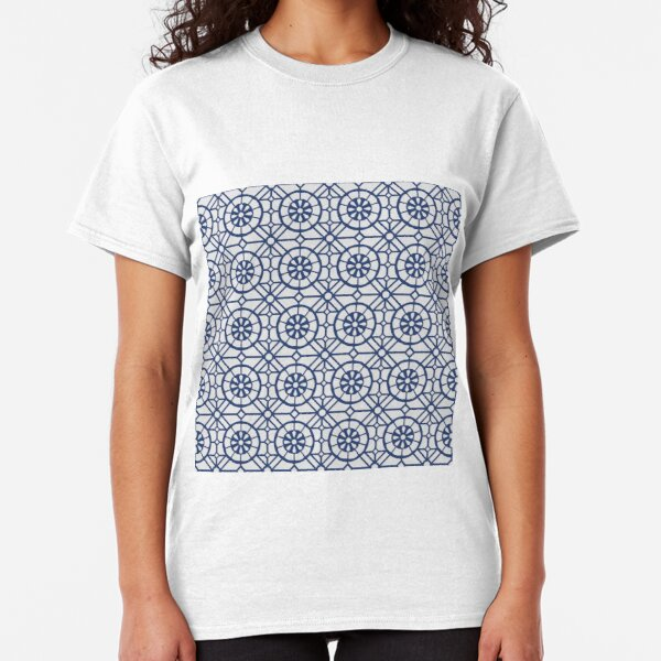 Azul Tiles (Blue on White) Classic T-Shirt