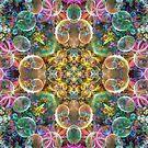 Bubbles and Wisps Kaleidoscope by wolfepaw