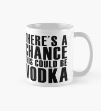 Es gibt eine Chance, dass Wodka klassischer weißer Kaffee sein könnte Tasse