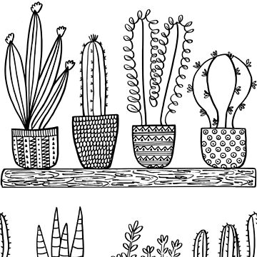 Pattern 101 - Prickly cacti and succulents by IreneSilvino