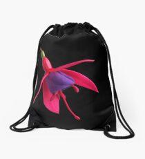 Fuchia Flower Drawstring Bag