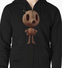 Wood Man Zipped Hoodie
