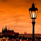 Prague castle and Charles bridge by retouch
