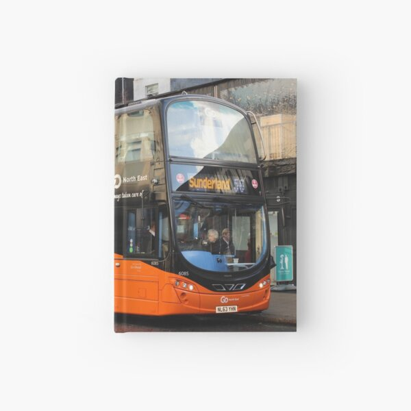 Modern Double Decker Bus - Fab Fifty Six Night Hardcover Journal