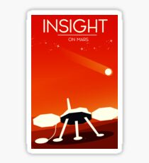 Einsicht Mars Lander Space Art Sticker