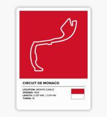 Pegatina Circuito de Mónaco - v2