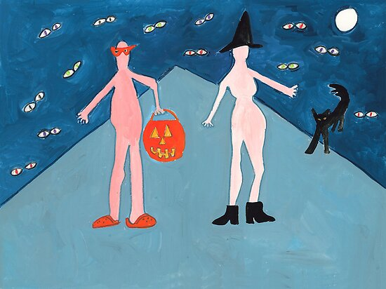 Naked Trick or Treaters by withoutastitch