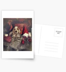 Christmas dog Postcards