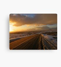 Dartmoor: The Road Across the Moor - Time to go Home Canvas Print