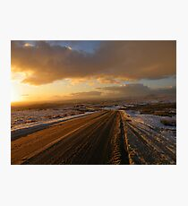 Dartmoor: The Road Across the Moor - Time to go Home Photographic Print