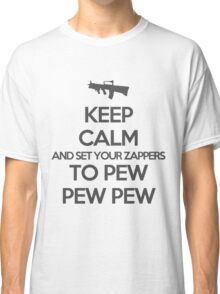 Starkid: Keep calm and set your zappers to pew pew pew (grey) Classic T-Shirt