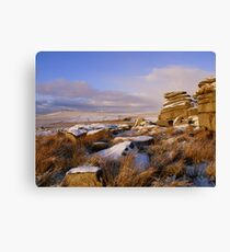 Lienzo Dartmoor: The View From Hollow Tor