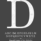 Letter D Monogram with Alphabet by Kelsorian