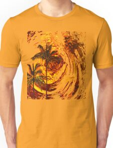 Fire Sunset Ripples in Time Unisex T-Shirt